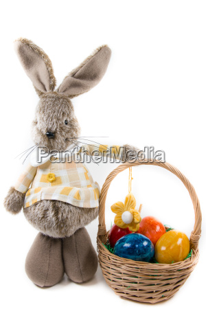 easter bunny with a basket full