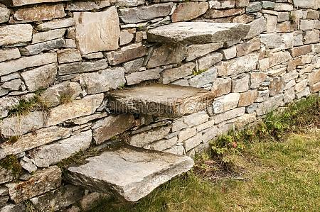 stone steps into stonewall