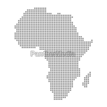 pixel map gray continent africa
