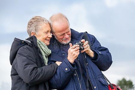senior adult couple seniors happy while