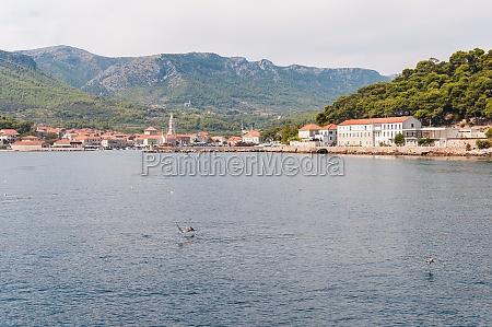 city of jelsa in croatia