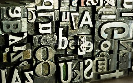 metal type printing press typeset obsolete