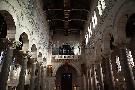 interior of the basilica of saint