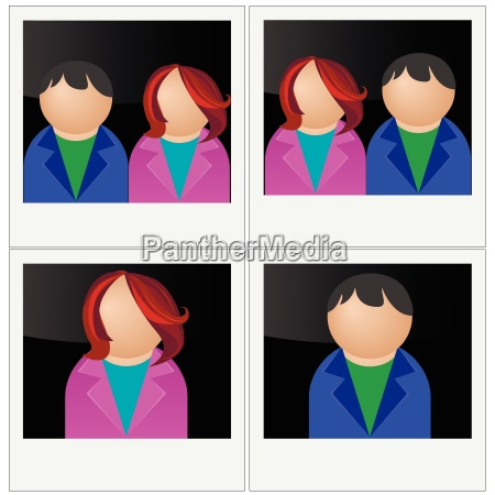 vector photo for documents family