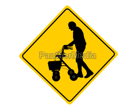 attention people with rollator