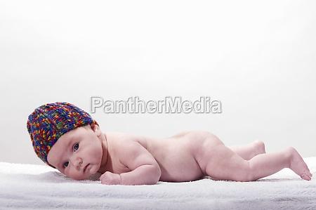 close up of sweet little newborn