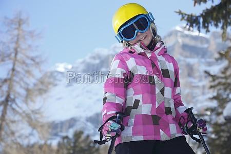smiling ski girl