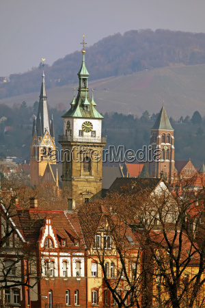 steeples in bad cannstatt