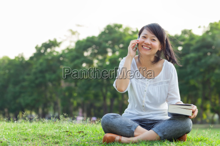 woman talking on mobile phone and
