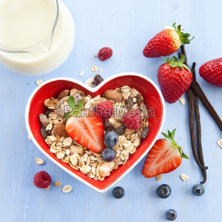 muesli with fresh berries