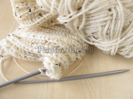 knitted in cream