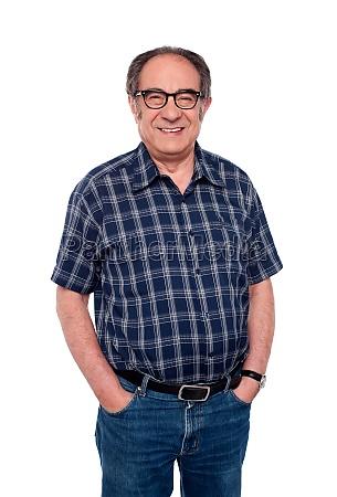 handsome senior man posing