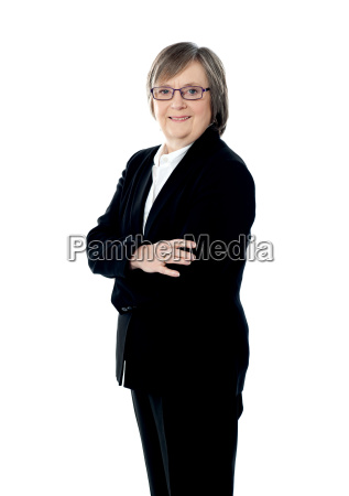 confident senior corporate woman posing