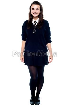 full length portrait of pretty girl