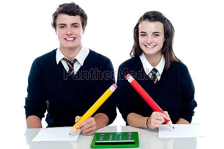 studious students ready to take down