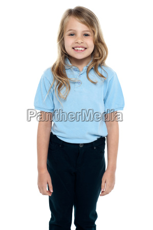 cute young caucasian child posing for