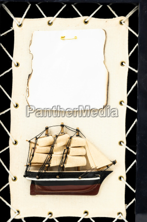 wooden ship figurine