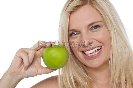 closeup shot of a cheerful woman