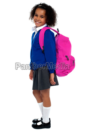 curly haired elementary school girl