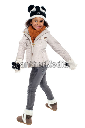 fun loving girl in playful mood