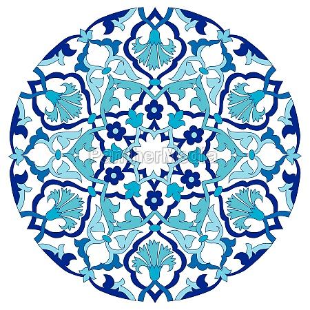 blue oriental ottoman design twenty four