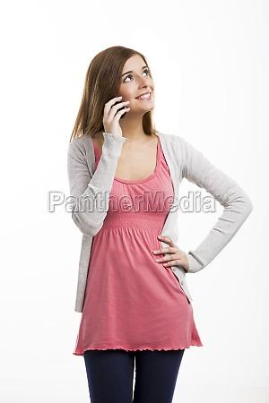 talking at phone