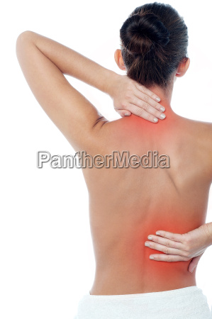 woman having body pain