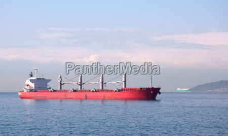 fuel tanker anchored at sea