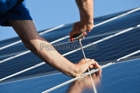 attach new solar module