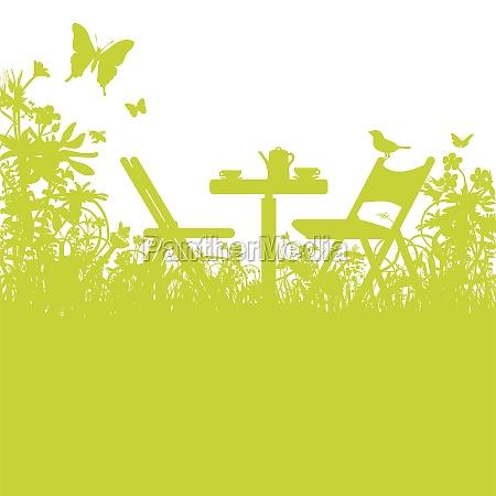 garden, chairs, in, the, garden - 11235872