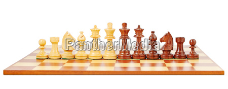 chess board and chessmen