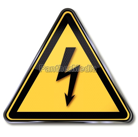 warning signs of dangerous electrical voltage