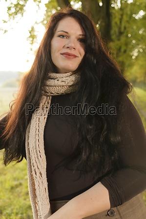 xxl model in autumn