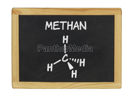 chemical structural formula of methane on