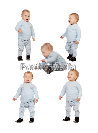 sequence of a baby learning to