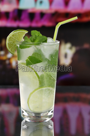 mojito cocktail in a bar or