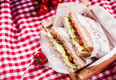 delicious savory salad sandwiches