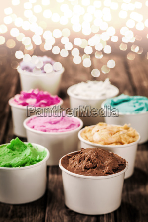 colourful italian ice cream for a