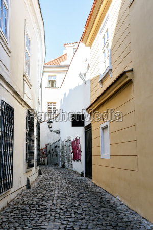 a small narrow street in the