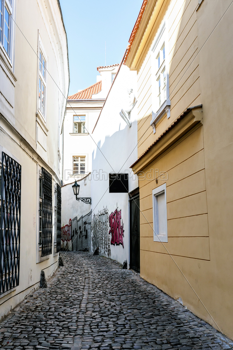 a, small, narrow, street, in, the - 11298215