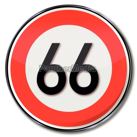 road sign speed 66