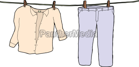 isolated clothes hanging