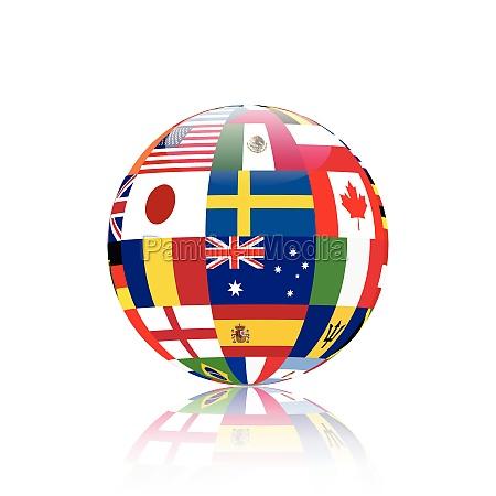 world sphere illustration