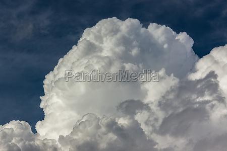 thick cumulous rain clouds