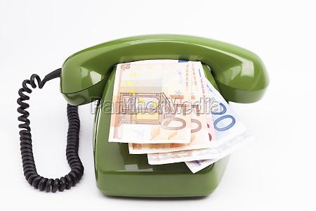 analog phone and bills