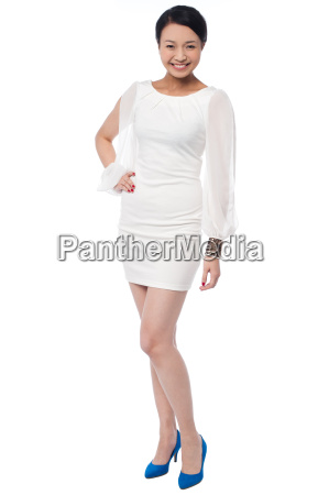 fashion girl posing in style full