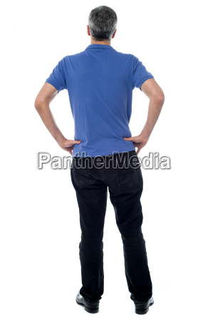 back view of mature man