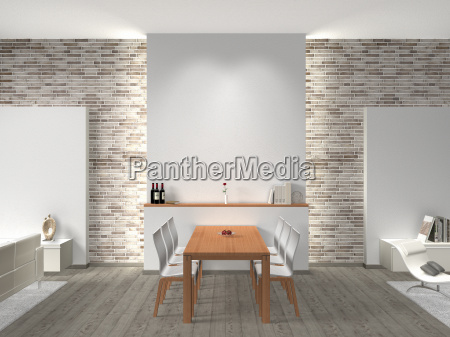 dining room with sofa and free