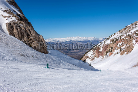 snowy mountains in spain masella