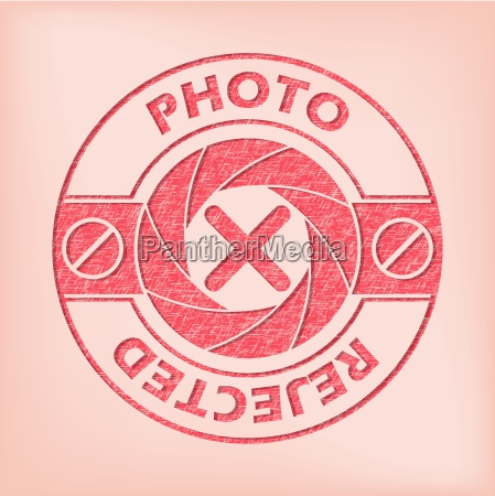 quality photo rejected seal design
